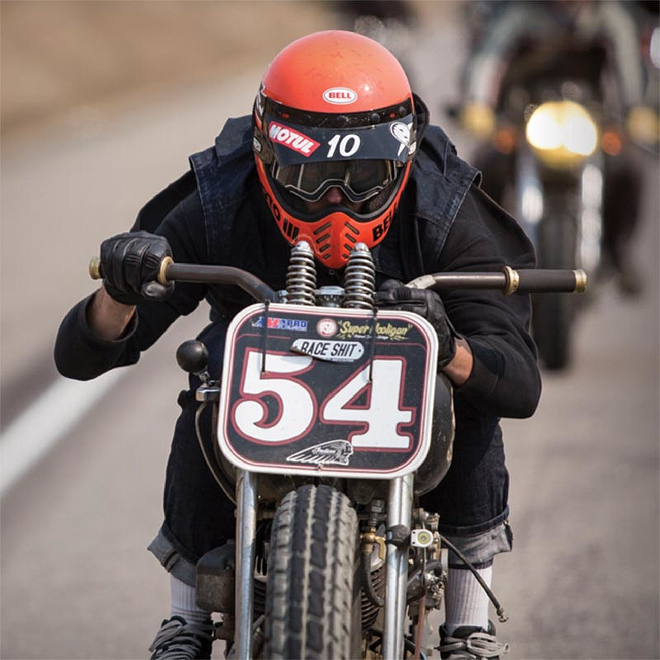 casque bell moto 3 cross vintage retro scrambler ducati custom harley biker