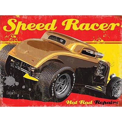 Plaque metal Hot Rod Speed Racer
