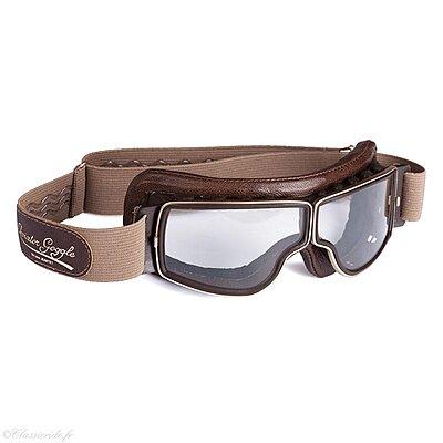 Aviator Goggle T2 doré marron vieilli