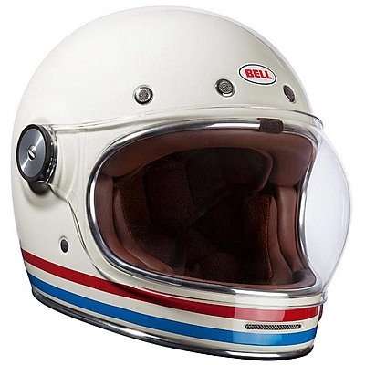 Casque Bell Bullitt DLX Stripes Pearl White