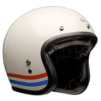 Casque Bell Custom 500 DLX Stripes Pearl White