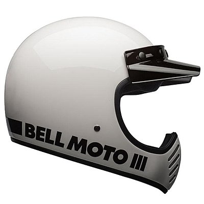 Casque Bell Moto 3 Classic White