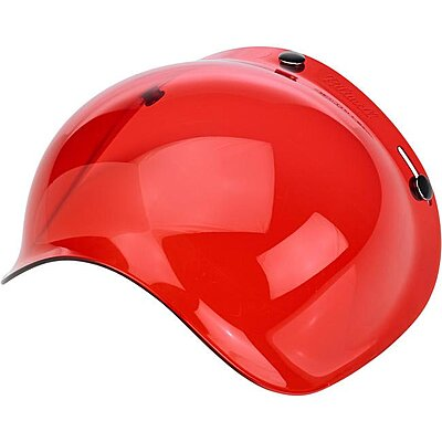 Visière Biltwell bubble shield anti-fog red
