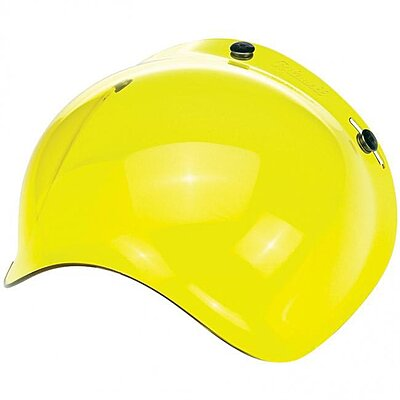 Visière Biltwell bubble shield anti-fog yellow