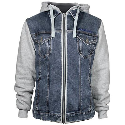 Blouson Harisson West Side bleu gris