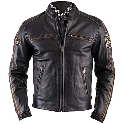 Blouson Helstons Ace cuir oldies marron