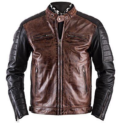 blouson cuir moto vintage cafe racer veste biker homme. Black Bedroom Furniture Sets. Home Design Ideas