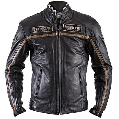 Blouson Helstons Daytona cuir rag noir
