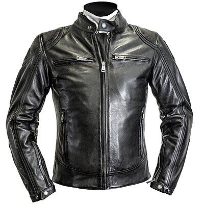 Blouson Helstons Modelo cuir rag noir