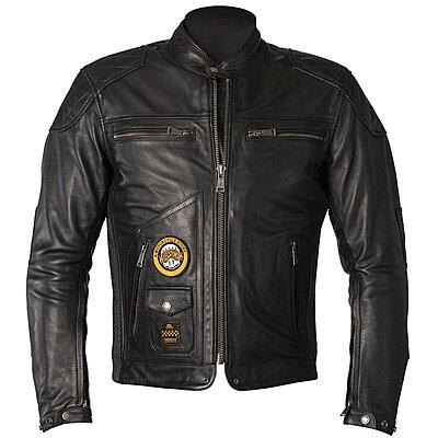 Blouson Helstons Tracker cuir noir