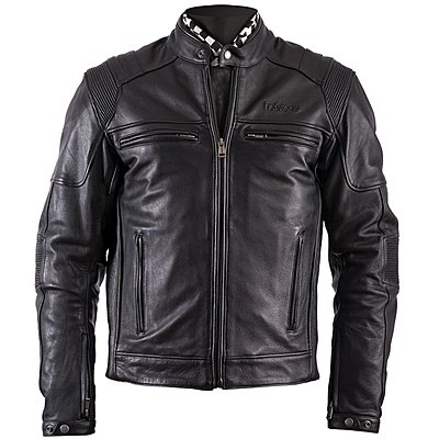 Blouson Helstons Trust, cuir plain noir