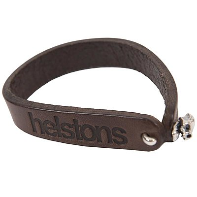 Bracelet Helstons Skull cuir marron
