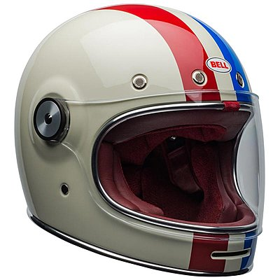 Casque Bell Bullitt DLX Command gloss, vintage white, red, blue