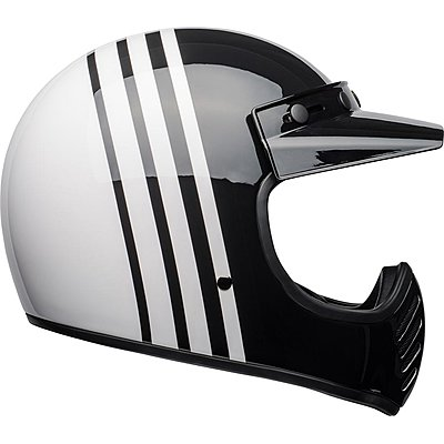 Casque Bell Moto 3 Reverb gloss white black