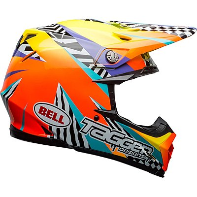 Casque Bell Moto 9 Mips Tagger Breakout orange yellow
