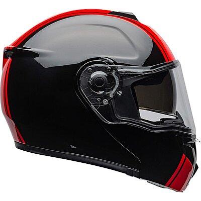 Casque modulable BELL SRT modular Ribbon black red