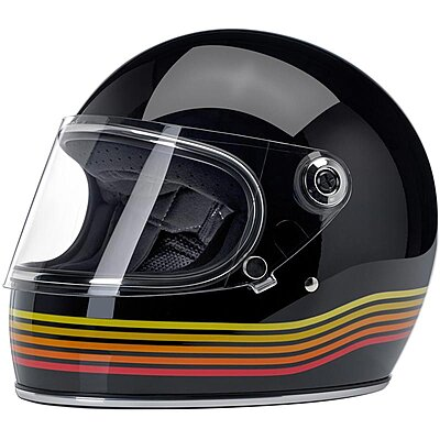Casque Biltwell Gringo S ECE gloss black Spectrum