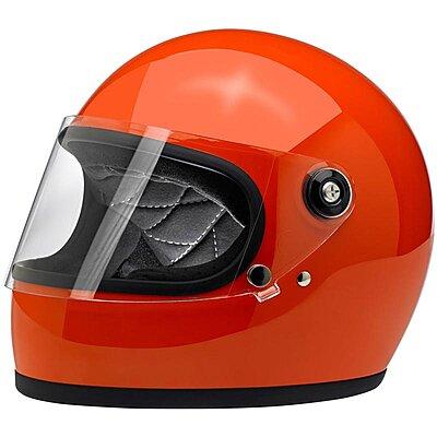 Casque Biltwell Gringo S ECE gloss hazard orange
