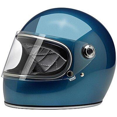 Casque Biltwell Gringo S ECE gloss pacific blue