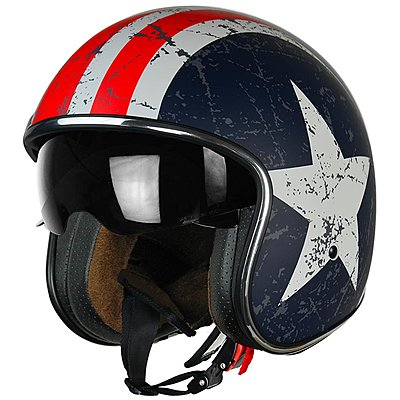 Casque Origine Sprint Rebel Star Red Mat