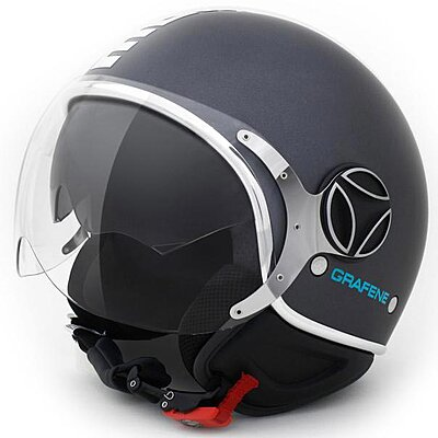 Casque Momo Design FGTR Evo Graphène logo Chrome