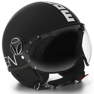 Casque Momo Design FGTR Evo noir mat logo blanc