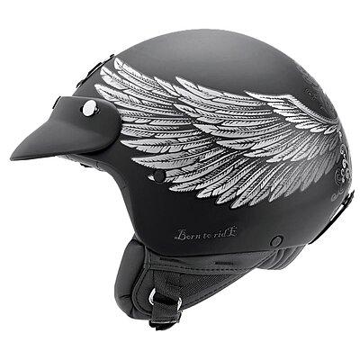 Casque Nexx SX60 Eagle rider black silver mat