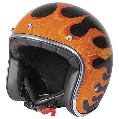 Casque Stormer Pearl fire orange metal glossy