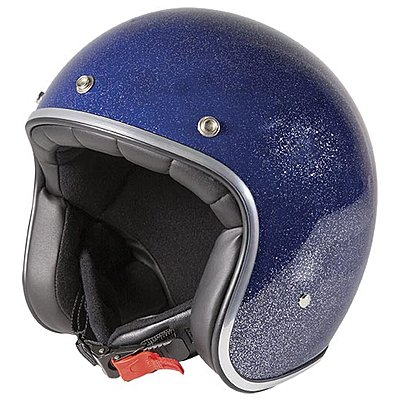 Casque Stormer Pearl glitter navy blue glossy