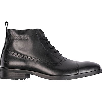 Chaussures Helstons Heroes cuir aniline noir ciré