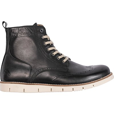 Chaussures Helstons Holey cuir aniline noir