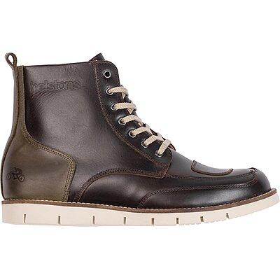 Chaussures Helstons Liberty cuir aniline ciré marron kaki