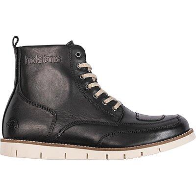 Chaussures Helstons Liberty cuir aniline ciré noir