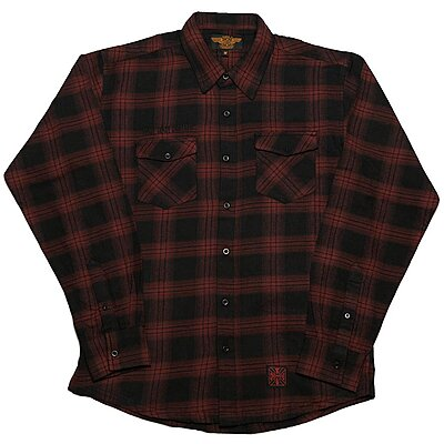 Chemise West Coast Choppers Cisco Flannel red black