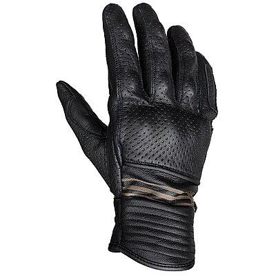 Gants Helstons Corporate été cuir noir perforé