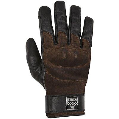 Gants Helstons Glory hiver cuir noir marron