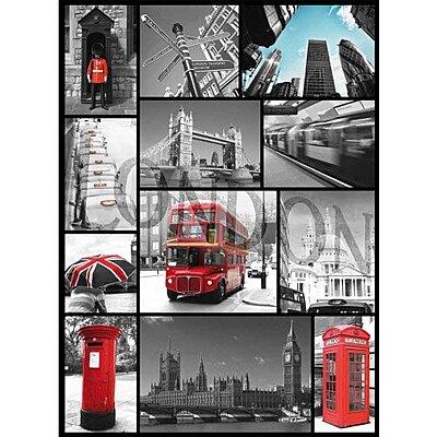 Plaque collage London