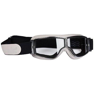 Lunettes Aviator Goggle T2 Blanc Écru Chrome
