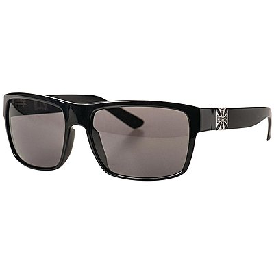 Lunettes West Coast Choppers WTF shiny black smoke