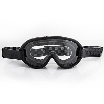 Masque Moto Ethen Scrambler Damier Noir Gris, photochromique