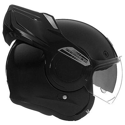 Casque convertible Nox Premium Stratos noir brillant