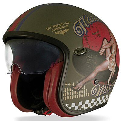Casque Premier Vintage Pin up Military BM