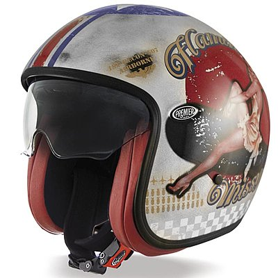 Casque Premier Vintage Pin up old style silver