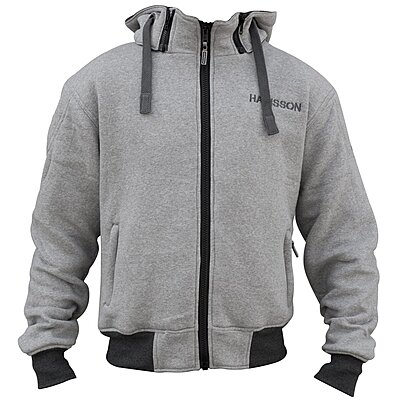 Sweat moto Harisson Patriot gris chiné