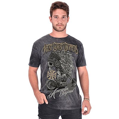 Tee shirt West Coast Choppers Chief dark grey