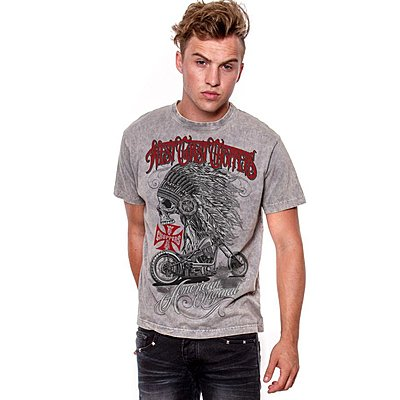 Tee shirt West Coast Choppers Chief grey
