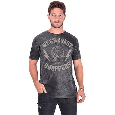 Tee shirt West Coast Choppers AT Helmet vintage black