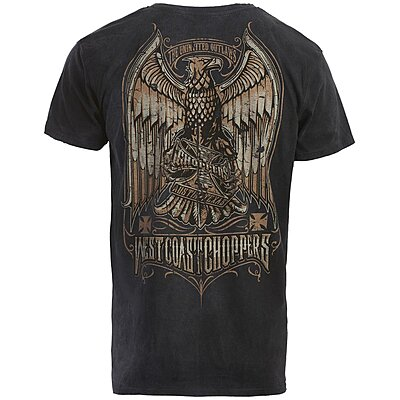 Tee shirt West Coast Choppers Eagle Crest magic day blue