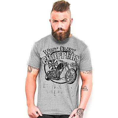Tee shirt West Coast Choppers el Diablo grey