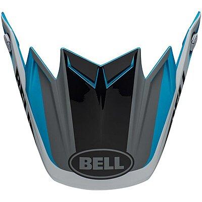 Visière Bell Moto 9 Flex Division white black blue